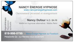 Carte affaires Nancy Dufour