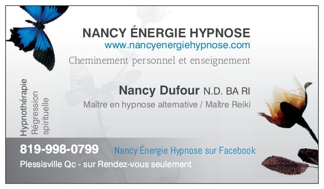 Carte affaires Nancy Dufour